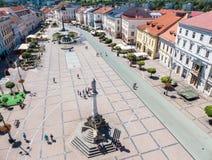 Mitte der Stadt Banska Bystrica, Slowakei Lizenzfreie Stockbilder
