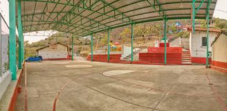 Mitte der Stadt im Pueblo von Pipincatla, De Cuauhtemoc H Ayuntamiento de Ixcateopan in Guerrero stockbild