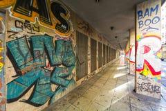Mitte der Stadtlandschaft, Athen, Griechenland Stockfotografie