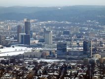 Mitte der Vilnius-Stadt Stockfoto