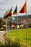 Mitte der Welt, Mitad Del Mundo, Äquator, Südamerika lizenzfreie stockbilder
