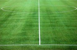 Mitte des Fußballplatzes Lizenzfreie Stockfotos