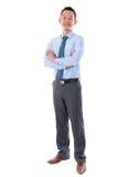 Mitte gealterter asiatischer Geschäftsmann Stockbild