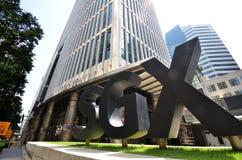 Mitte Singapurs SGX Lizenzfreie Stockbilder