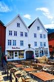 Mitte von Bergen, berühmte Stadt in Norwegen Lizenzfreie Stockfotos