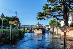 Mitte von Exmouth-Stadt in Devon lizenzfreies stockfoto