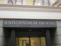 Mitte von Gerechtigkeit (Justizzentrum, Bremen, Deutschland) Stockbilder