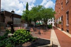 Mitte von im Stadtzentrum gelegenem York, Pennsylvanias-Ereignis-Bereich stockfoto