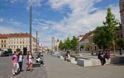 Mitte von Klausenburg-Napoca Stockfotografie