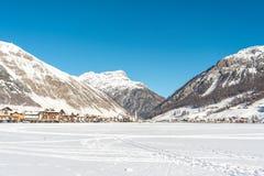 Mitte von Livigno in Italien Lizenzfreies Stockfoto