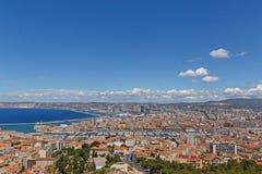 Mitte von Marseille am Sommertag Stockbild