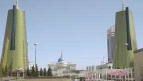Mitte von neuem Astana stock video