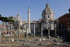 Mitte von Rom, Spalte von Trajan, Trajans Forum, Lazio, Italien Lizenzfreie Stockbilder