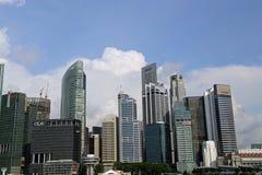 Mitte von Singapur, glättend in der Stadt Lizenzfreie Stockbilder