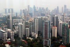 Mitte von Singapur, glättend in der Stadt stockbild