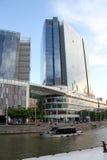 Mitte von Singapur, glättend in der Stadt Lizenzfreies Stockbild