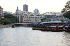 Mitte von Singapur, glättend in der Stadt Lizenzfreies Stockfoto