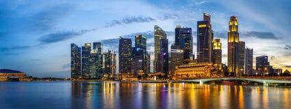 Mitte von Singapur, glättend in der Stadt Lizenzfreie Stockfotos