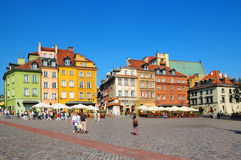 Mitte von Warschau, Polen lizenzfreie stockfotografie