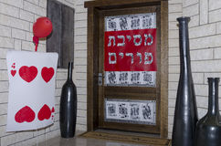 Mitteilung auf der Tür des Hauses Stockbilder