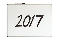2017, Mitteilung auf whiteboard Stockfoto