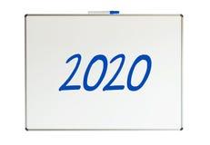 2020, Mitteilung auf whiteboard Stockbilder