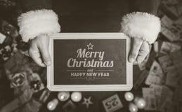 Mitteilung der frohen Weihnachten und des guten Rutsch ins Neue Jahr Lizenzfreies Stockfoto