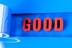 Mitteilung der guten Nachrichten vektor abbildung