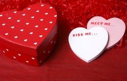 Mitteilung für meinen Valentinsgruß Lizenzfreie Stockfotografie