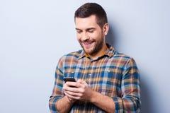 Mitteilung mit reizenden Wörtern Lizenzfreies Stockfoto