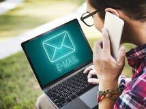 Mitteilungs-Buchstabe-Umschlag-Chat-Grafik-Konzept Lizenzfreies Stockfoto