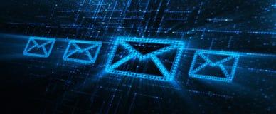 Mitteilungs-E-Mail-Kommunikations-Internet-Technologie-Netz-Konzept stockfoto