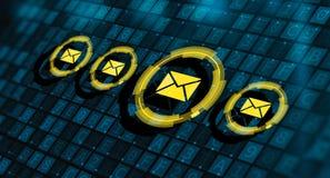 Mitteilungs-E-Mail-Post-Kommunikations-on-line-Schwätzchen-Geschäft stockbilder