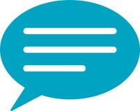 Mitteilungs-Sprache-Blasen-Ikone Vektor Abbildung