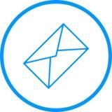 Mitteilungs-Umschlag-Vektor-Linie Ikone Lizenzfreie Abbildung