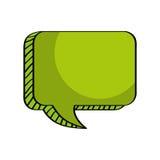 Mitteilungsgespräch, Kastenvektor leer stock abbildung