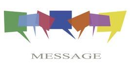 Mitteilungskonzeptillustration Kommunikationsbälle in sortierten Farben lizenzfreies stockfoto