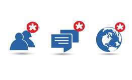 Mitteilungsliebhaber-Ikonenvektor Lizenzfreies Stockbild