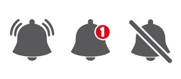 Mitteilungslinie Ikonen Social Media Element, Benutzerschnittstellenzeichen Neue Meldung Bell-Linie Ikonen mit dem unterschiedlic lizenzfreie abbildung
