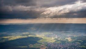 Mittel-Deutschland von der Luft stockfotos