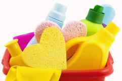 Mittel für das Waschen und das Säubern Lizenzfreies Stockfoto