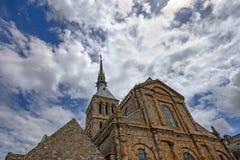 Mittelalterliche Abtei Mont Saint-Michel in Frankreich Stockbild