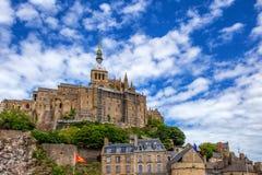 Mittelalterliche Abtei Mont Saint-Michel in Frankreich Lizenzfreie Stockfotografie