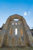 Mittelalterliche Abtei von San Galgano vom 13. Jahrhundert, nahe Siena, Tus Lizenzfreies Stockfoto
