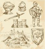 Mittelalterliche Ansammlung Stockfotos