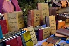 Mittelalterliche Bücher in einer Marmantile-Stadt Stockbild