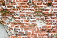 Mittelalterliche Backsteinmauer Stockbild