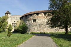Mittelalterliche Bastion in Royal Palace, Budapest stockbild