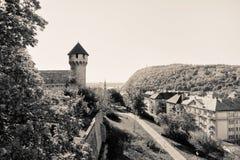 Mittelalterliche Bastion in Royal Palace, Budapest stockbilder