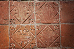 Mittelalterliche Bodenfliesen Stockfotografie